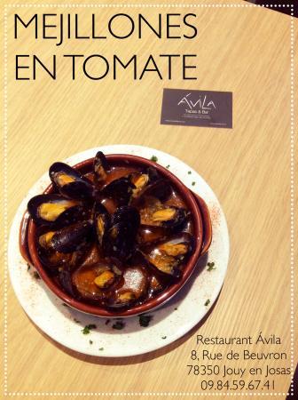 avila restaurant tapas bar moules a la sauce tomate