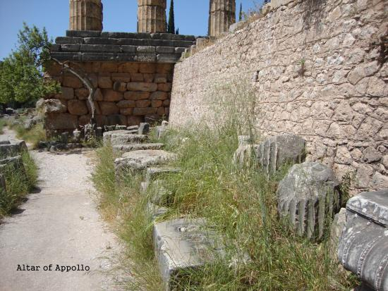 Altar of Apollo - Picture of Delphi Archaeological Museum ...