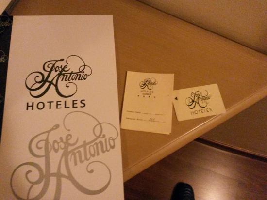 Hotel Jose Antonio Cusco: Tarjeta de ingreso