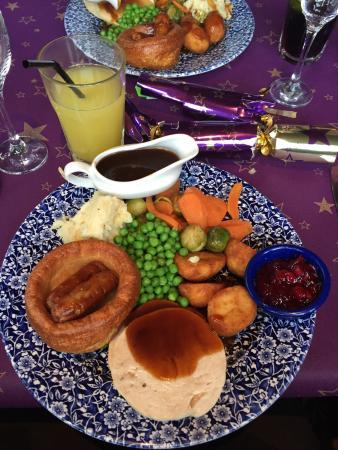 Bootle, UK: Christmas turkey dinner