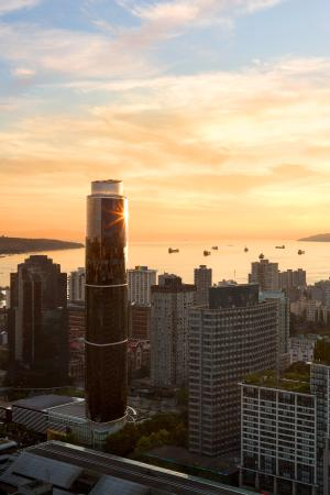 Sheraton Vancouver Wall Centre: North Tower sunset overlooking English Bay.