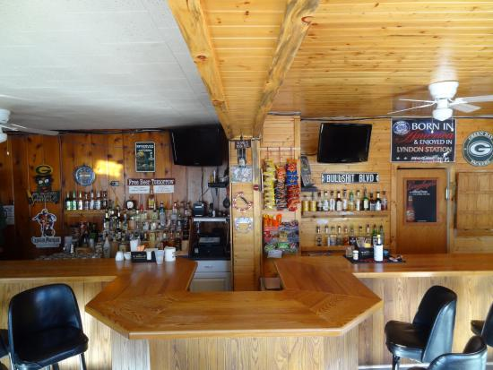 Lyndon Station, WI: The bar area
