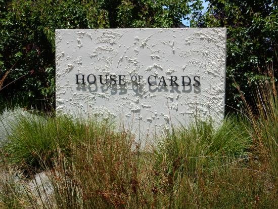 House of Cards Wines: Main entrance sign