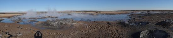 Niland, CA: panorama of the volcanoes