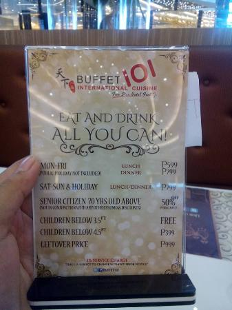 Buffet 101, Mandaue - Restaurant Reviews, Photos & Phone ...