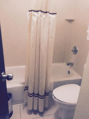 bathroom a little small room 101 alexis inn and suites nashville