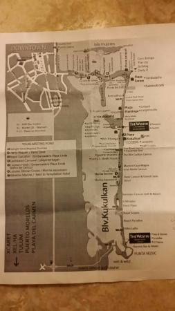 Bus Map of Hotel Zone - Picture of The Westin Resort & Spa, Cancun Cancun Bus Map on