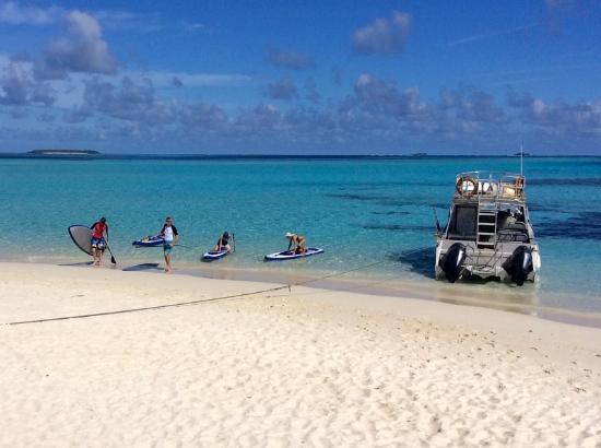 Mounu Island, Tonga: Back from a SUP around the neighbouring Isalnd