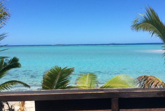 Mounu Island, Tonga: view from Fale 2