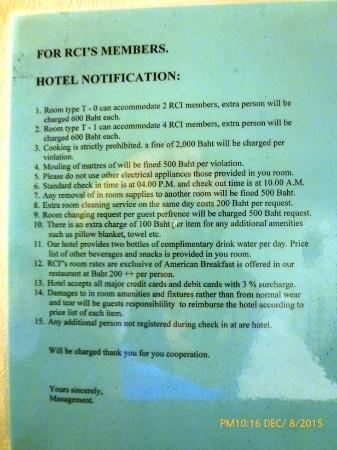 Grand Tower Inn Rama VI: Dos & Don'ts rules