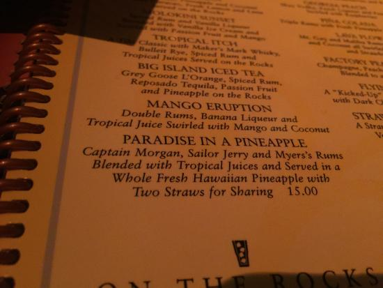 The Cheesecake Factory: Pineapple drink