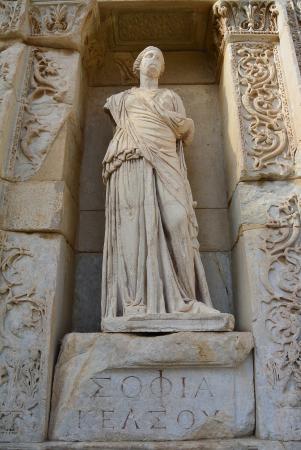 statue - Picture of Celsus Kutuphanesi, Selcuk - TripAdvisor