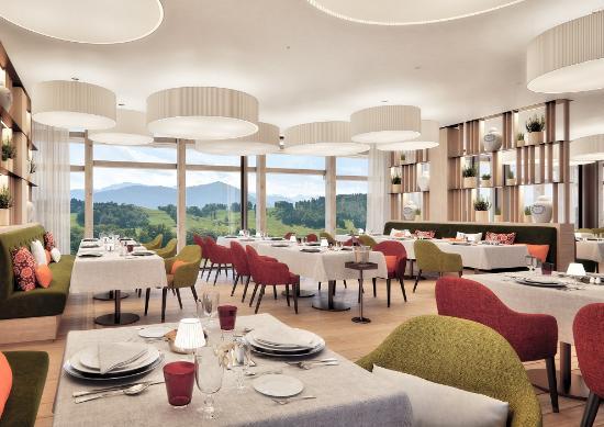 Burgenstock, سويسرا: Waldhotel - Restaurant