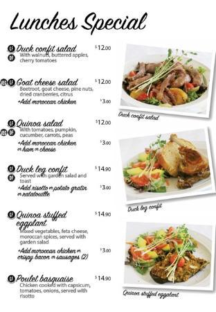 Coolum Beach, Australia: Lunches