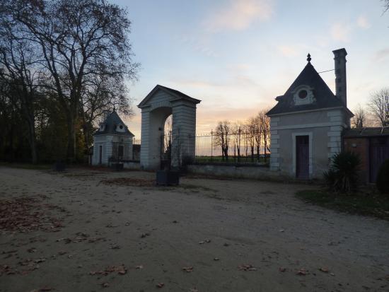Richelieu, Frankrijk: coucher de soleil dans le parc