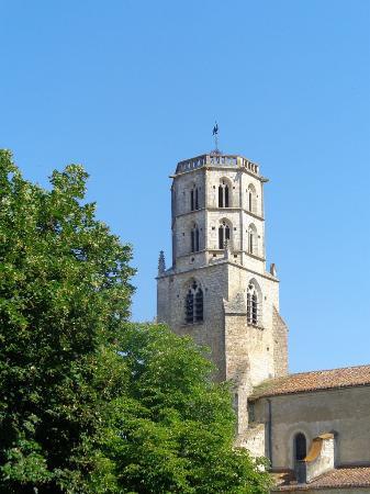 Gers, France : Clocher de l'église de Mauvezin