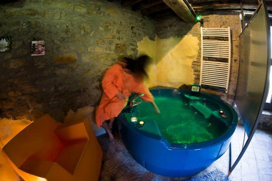 Pellegrino Parmense, İtalya: idromassaggio interno allo spazio benessere