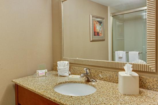 Holiday Inn Ft. Myers Airport-Town Center: Queen Corner bathroom