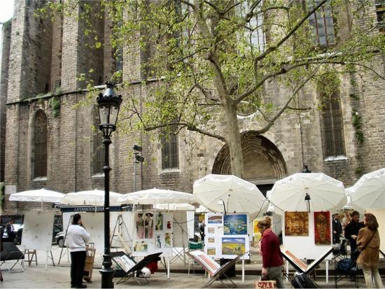 Mercat del Art de la Placa de Sant Josep Oriol