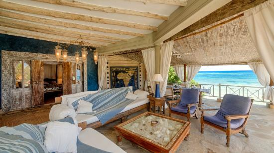 Alfajiri Villas: Lounge at Cliff Villa