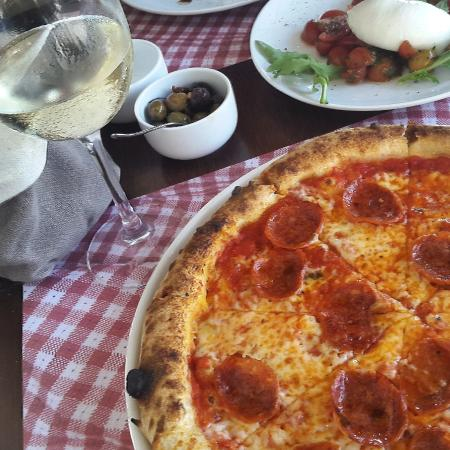 Pizza Diavola With White Wine Picture Of Tavolina Beirut