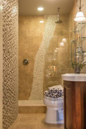 Trumansburg, estado de Nueva York: Bordeaux Suite Waterfall Bath