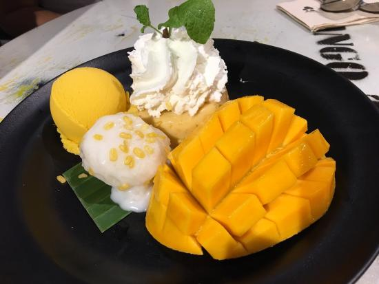 Nice mango sticky rice but not worth the effort