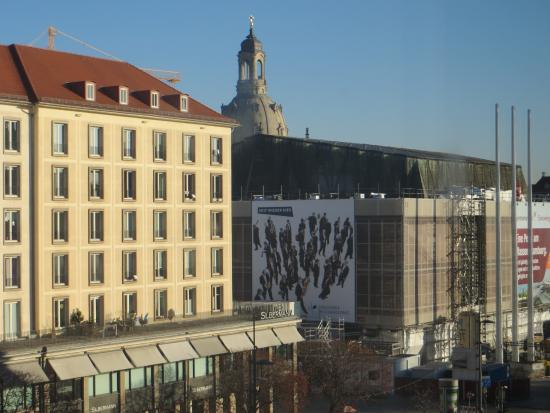 Ibis Budget Dresden City: Blick vom Hotelzimmer Richtung Frauenkirche