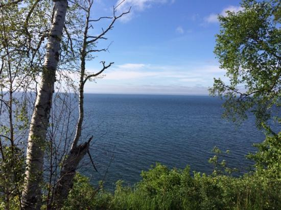 The Cliff Dweller on Lake Superior: View from our balcony