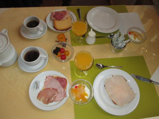 Hotel Cavalier : завтрак