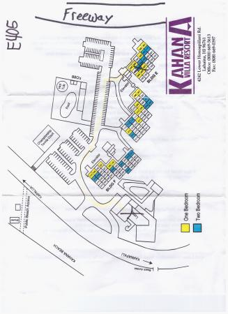 Kahana Villa Resort: Map