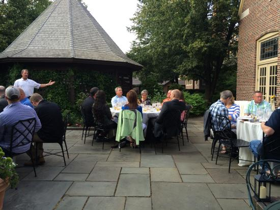 Wisconsin Room at the American Club: A courtyard dinner event