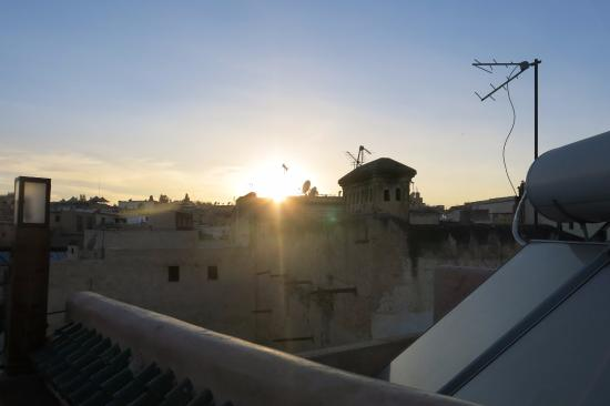 Riad Laaroussa: View from roof terrce