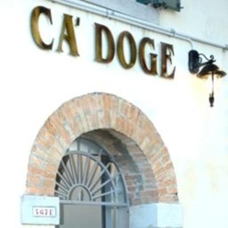 Ca' Doge: Мудренный вход в  наш отельчик ( Венеция 2015)
