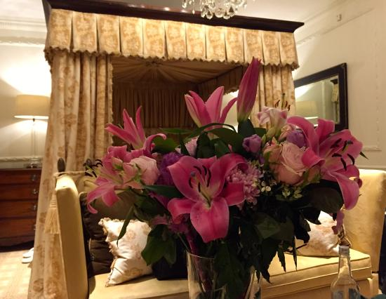 Egerton House Hotel: Flowers and our room