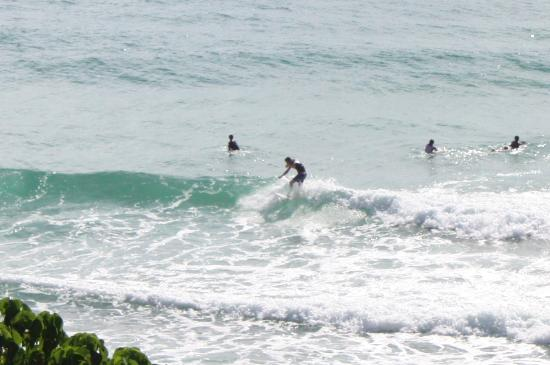 Coolum Beach, Αυστραλία: Watching our boy's surf from the balcony