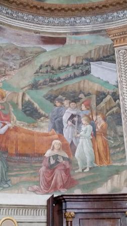 Duomo Spoleto: Fresco of Fra Fillippo Lippi's Self Portrait