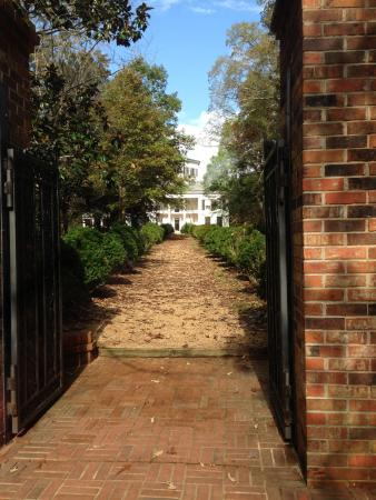 West Point, MS: Waverly walk way up to house