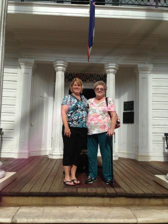 West Point, MS: Mom and daughter enjoying the front porch