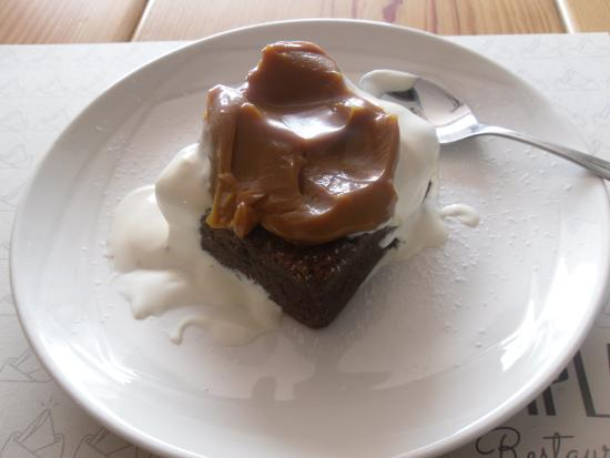 Santander Department, Colombia: Brownie in milk cream & milk caramel
