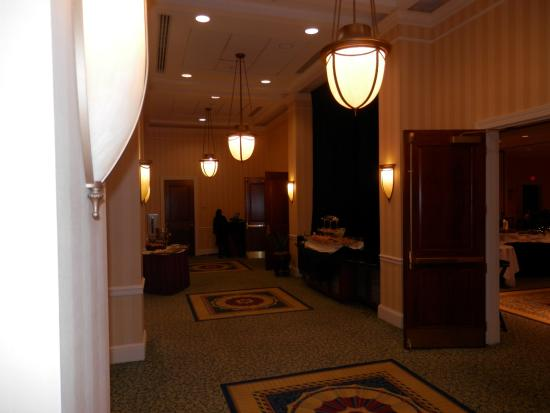 Staunton, VA: Hotel Lobby leads to Large Conference/ Dining area