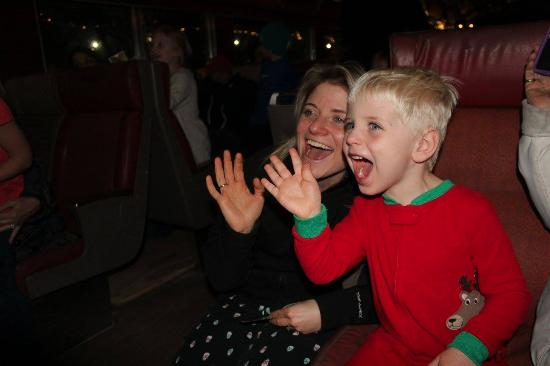 Shokan, NY: How priceless is this face when Santa first stepped into our car!