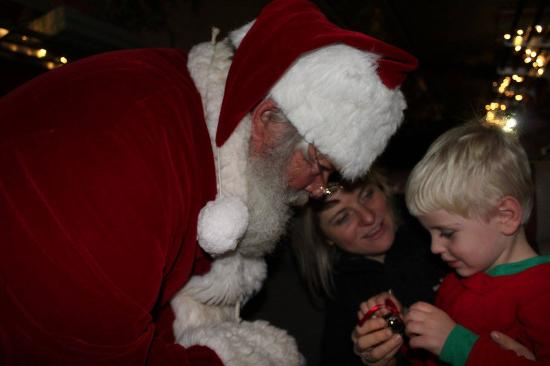 Shokan, NY: A special moment when Santa gave him a bell from his sled.