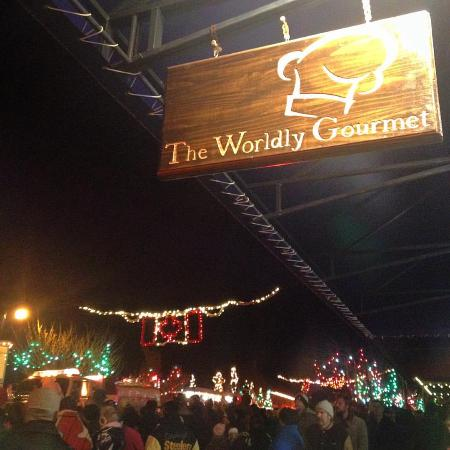Visited the Worldly Gourmet during Ladysmith's Festival of Lights