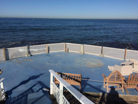 The Inn at Sunset Cliffs: Patio/Ocean View in the Morning