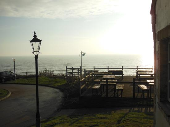 Newhaven, UK: Outside seating area.