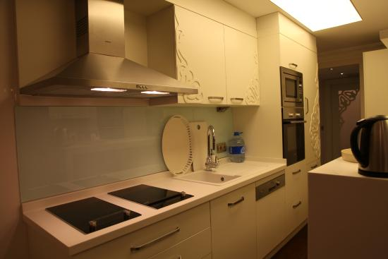 Ada Hotel Istanbul: The kitchen of the apartment