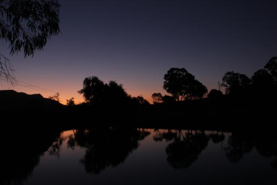 Willow Tree Estate: Sunset over dam