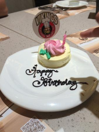 Birthday cake Picture of Vikings Quezon City TripAdvisor
