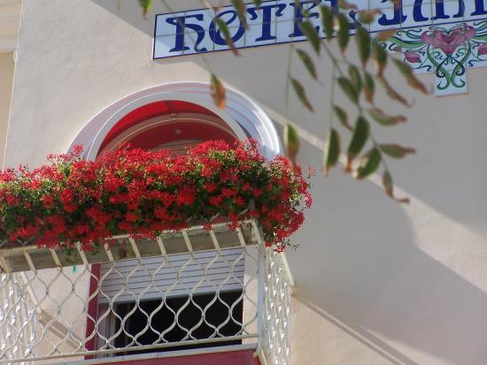 Hotel Imperiale: Un balcone fiorito sul mare